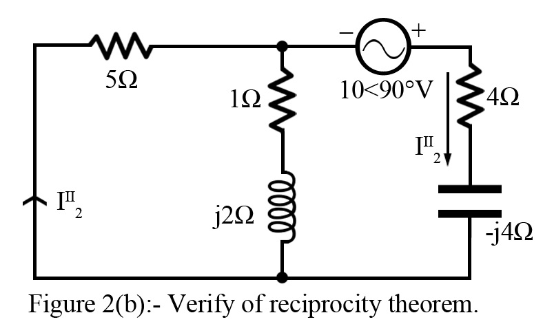reciprocity theorem for ac network